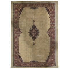 Distressed Antique Turkish Sivas Rug with Rustic Feminine Industrial Style
