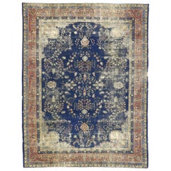 Distressed Antique Turkish Sparta Rug with Modern Rustic English Style
