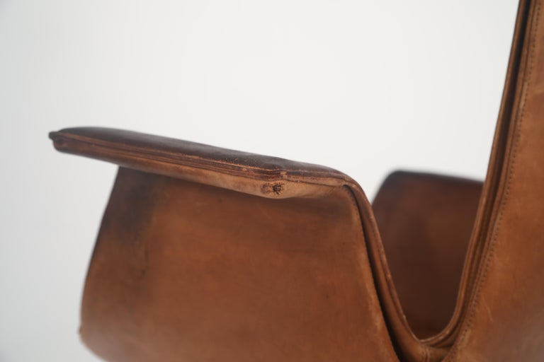Distressed Bird Chairs by Preben Fabricius & Jørgen Kastholm for Alfred Kill For Sale 6