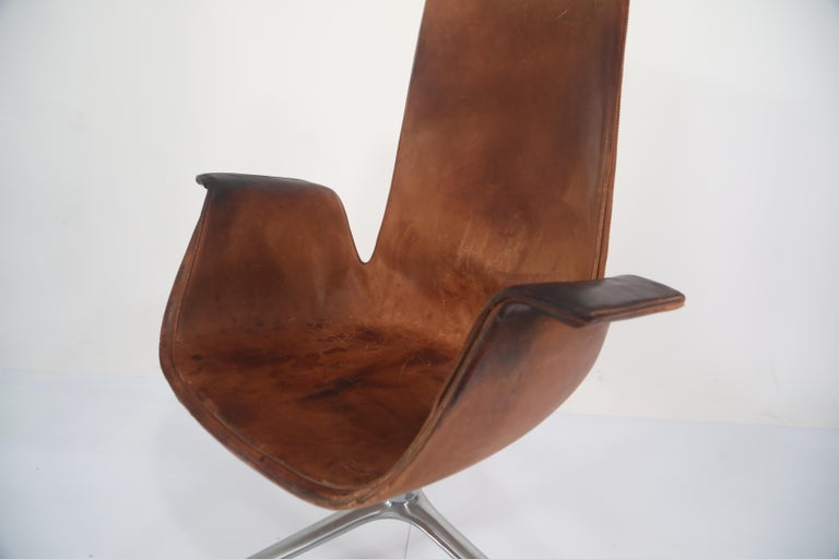 Distressed Bird Chairs by Preben Fabricius & Jørgen Kastholm for Alfred Kill For Sale 9