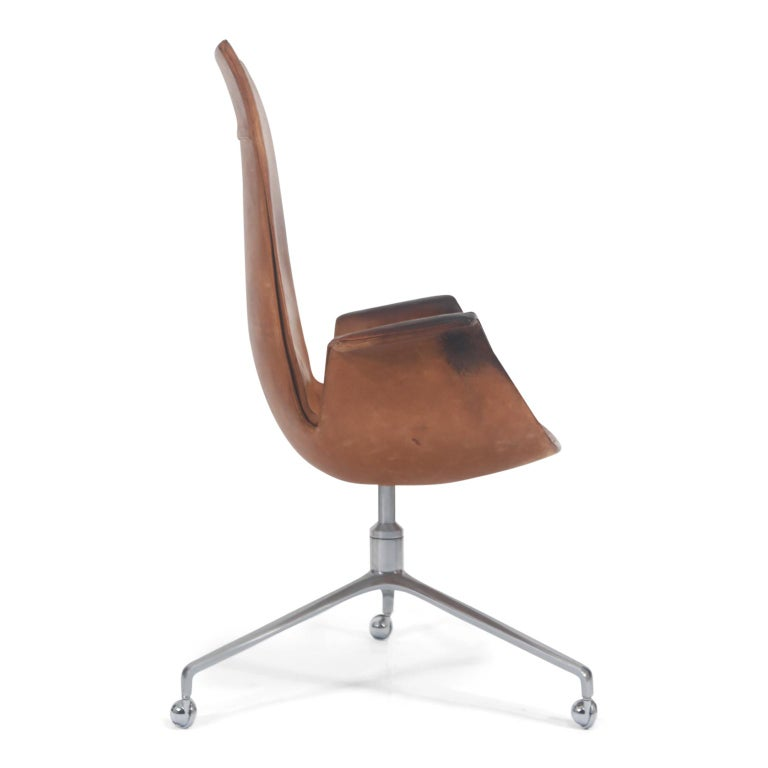 Steel Distressed Bird Chairs by Preben Fabricius & Jørgen Kastholm for Alfred Kill For Sale