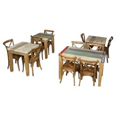 Distressed Dining Tables Cafe Tables, 20th Century