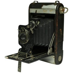 Distressed Eastman Kodak Leather Wrapped Fold Out Land Camera, circa 1920s