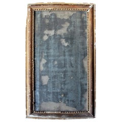 Distressed George III Period Rectangular Gilded Gesso Wall Mirror, circa 1800