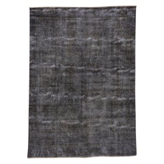 Distressed Gray Overdyed Carpet