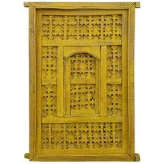 Distressed Moroccan Yellow Door / Gate / Shutter
