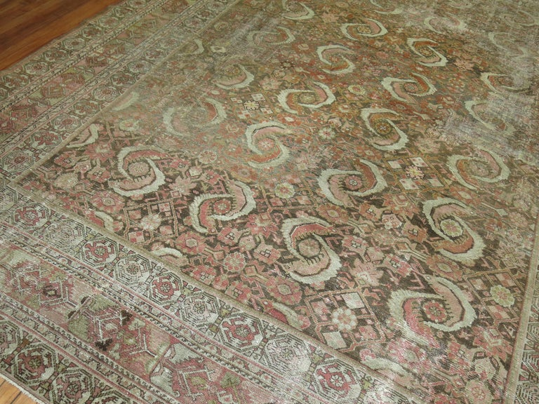Distressed Persian Malayer Rug For Sale 3