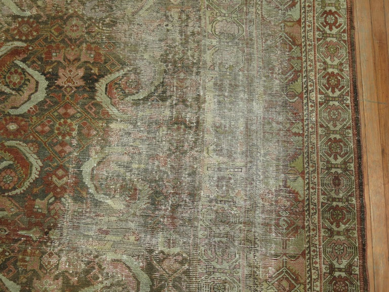 Distressed Persian Malayer Rug For Sale 4