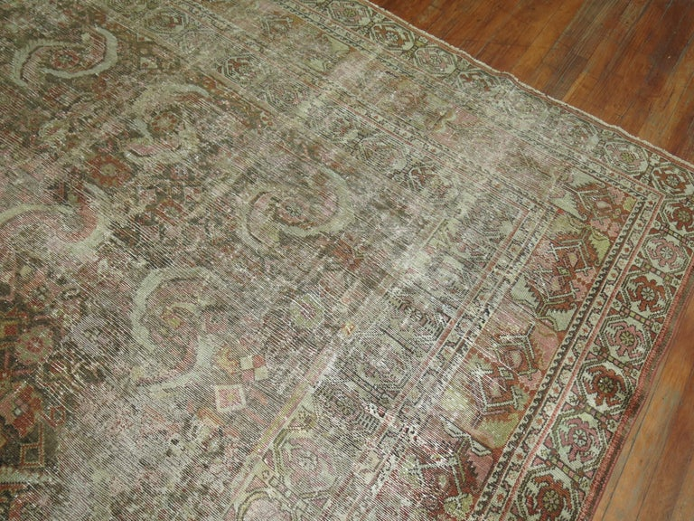 Distressed Persian Malayer Rug For Sale 5