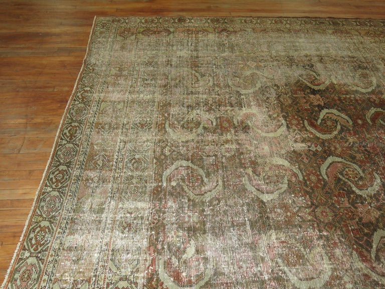 Distressed Persian Malayer Rug For Sale 6