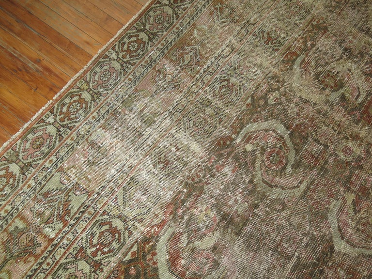 Distressed Persian Malayer Rug For Sale 7
