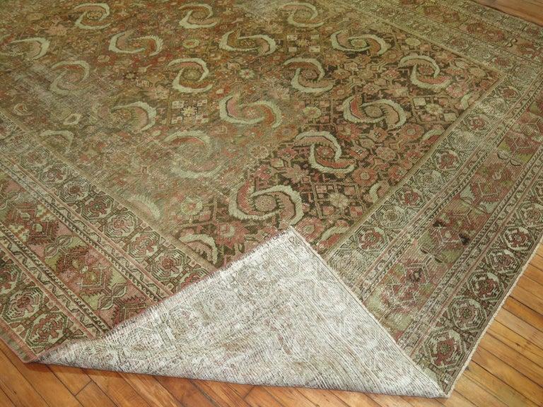 Tudor Distressed Persian Malayer Rug For Sale