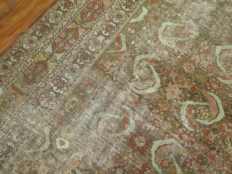 20th Century Distressed Persian Malayer Rug For Sale