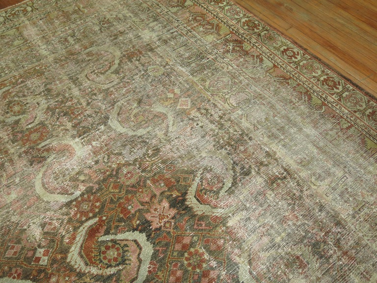 Wool Distressed Persian Malayer Rug For Sale