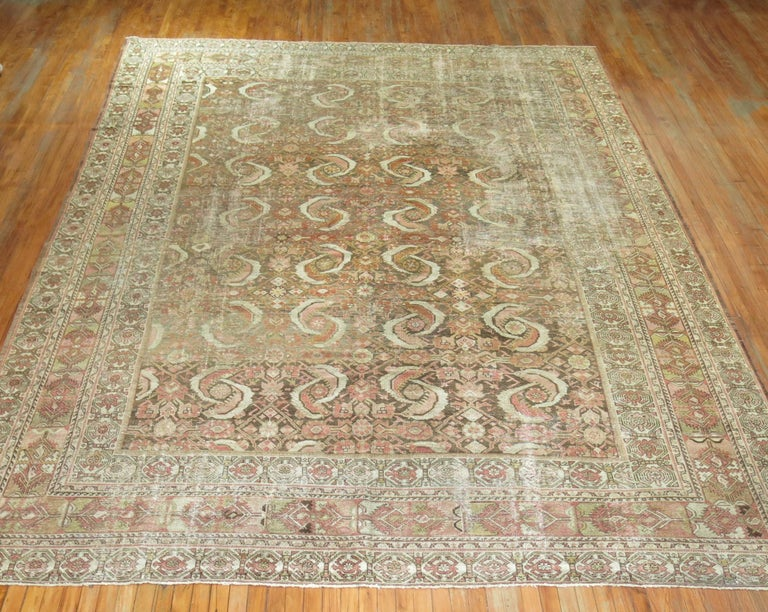 Distressed Persian Malayer Rug For Sale 1