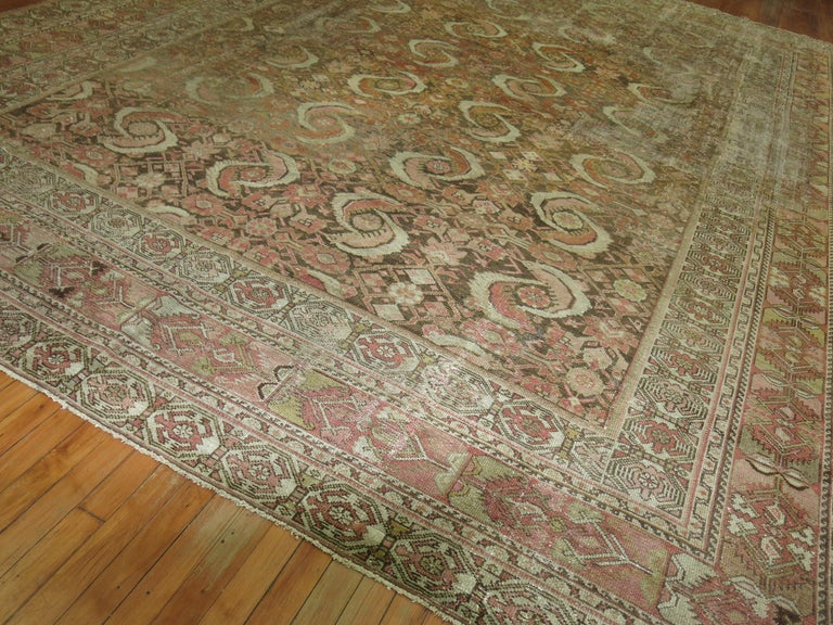 Distressed Persian Malayer Rug For Sale 2