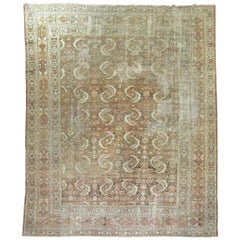 Distressed Persian Malayer Rug