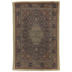 Distressed Persian Malayer Style Area Rug