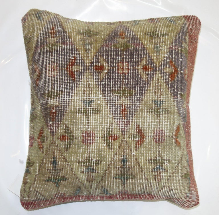 Country Distressed Rug Pillow For Sale