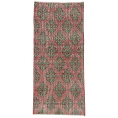 Distressed Vintage Turkish Sivas Rug with Traditional English Cottage Style