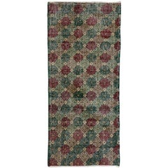 Distressed Turkish Sivas Accent Rug with Rustic English Traditional Style