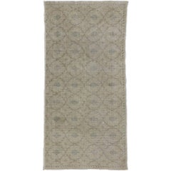 Distressed Sivas Accent Rug with Shabby Chic Farmhouse Style and Muted Colors