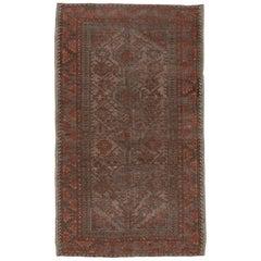 Distressed Tribal Belouch Rug