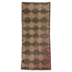 Distressed Turkish Sivas Rug with Elizabethan Art Deco Style
