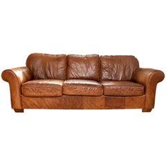 Distressed Vintage Leather Sofa