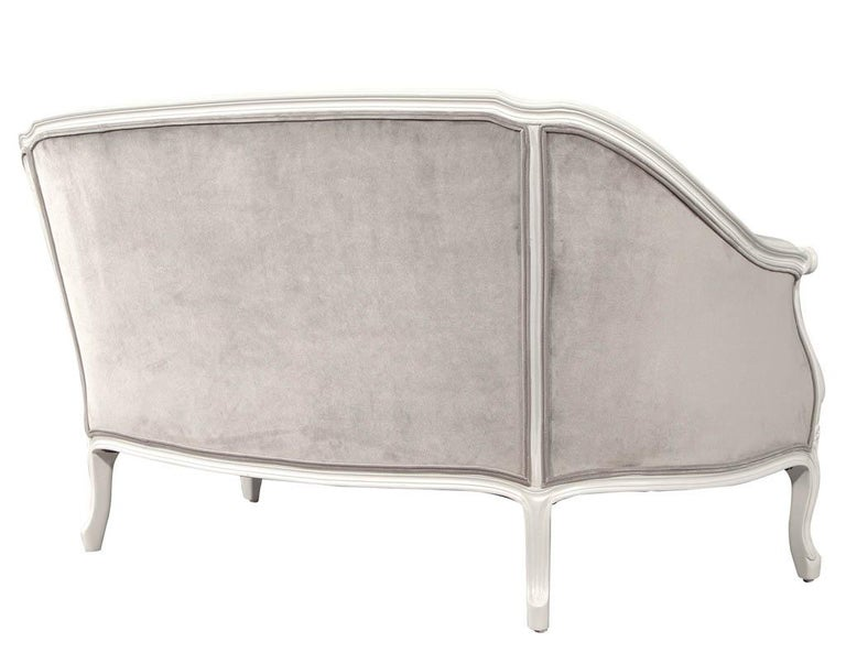 Distressed Vintage Louis XV Style Settee Sofa For Sale 5
