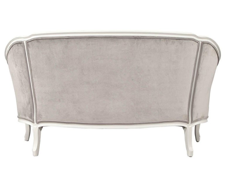 Distressed Vintage Louis XV Style Settee Sofa For Sale 6