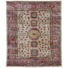 Distressed Vintage Persian Khotan Rug with Rustic Tribal Style