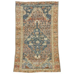 Distressed Vintage Persian Malayer Rug with Rustic Tuscan Style