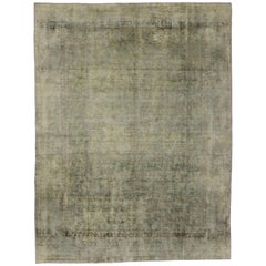 Distressed Vintage Turkish Area Rug with Modern Industrial Rustic Luxe Style