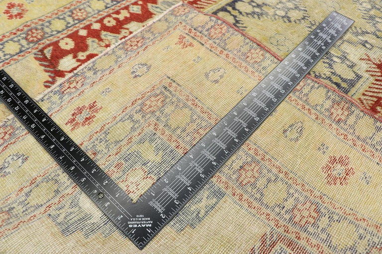 20th Century Distressed Vintage Turkish Oushak Rug with Rustic Modern Lodge Style For Sale
