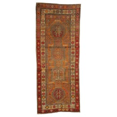 Distressed Vintage Turkish Oushak Runner with Modern Rustic Northwestern Style