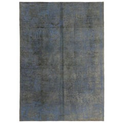 Distressed Vintage Turkish Rug With Industrial Luxe Style