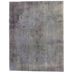 Distressed Vintage Turkish Rug with Modern French Luxe Industrial Style