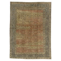 Distressed Antique Turkish Sivas Rug with Shabby Chic Farmhouse Style
