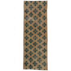Distressed Vintage Turkish Sivas Hallway Runner with Traditional English Style