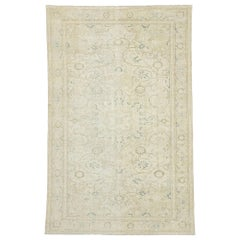 Distressed Vintage Turkish Sivas Rug with Modern Rustic Cotswold Cottage Style