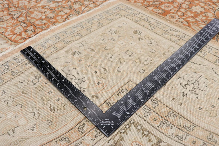 Distressed Vintage Turkish Sivas Rug with Romantic Rustic Art Nouveau Style In Distressed Condition For Sale In Dallas, TX