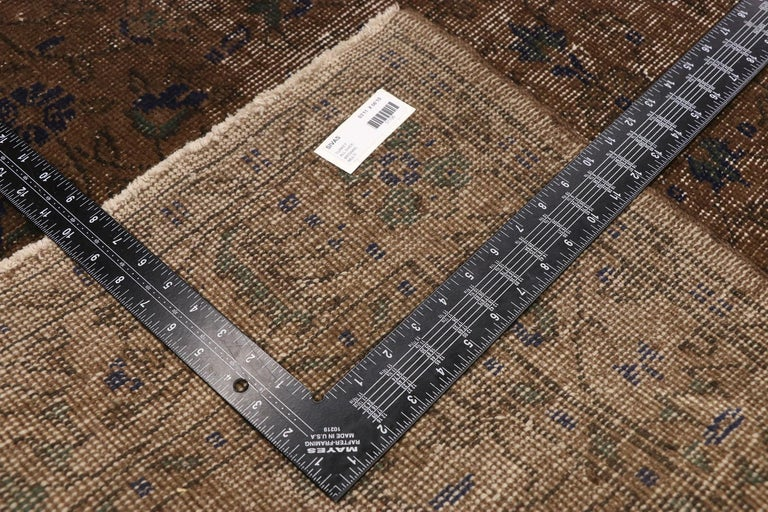 20th Century Distressed Vintage Turkish Sivas Rug with Rustic Organic Modern Farmhouse Style  For Sale