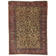 Distressed Vintage Turkish Sivas Rug with Rustic Victorian Style