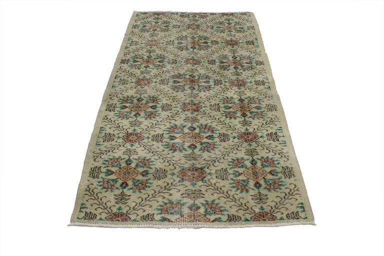 Industrial Distressed Vintage Turkish Sivas Rug with Shabby Chic Farmhouse Style For Sale