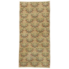 Distressed Vintage Turkish Sivas Runner with Romantic Arts & Crafts Style