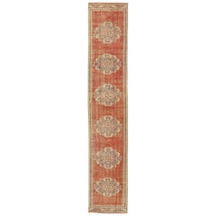 Distressed Vintage Turkish Sivas Runner with Romantic Northwestern Artisan Style