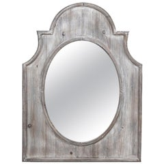 Distressed Wood Arch Top Mirror