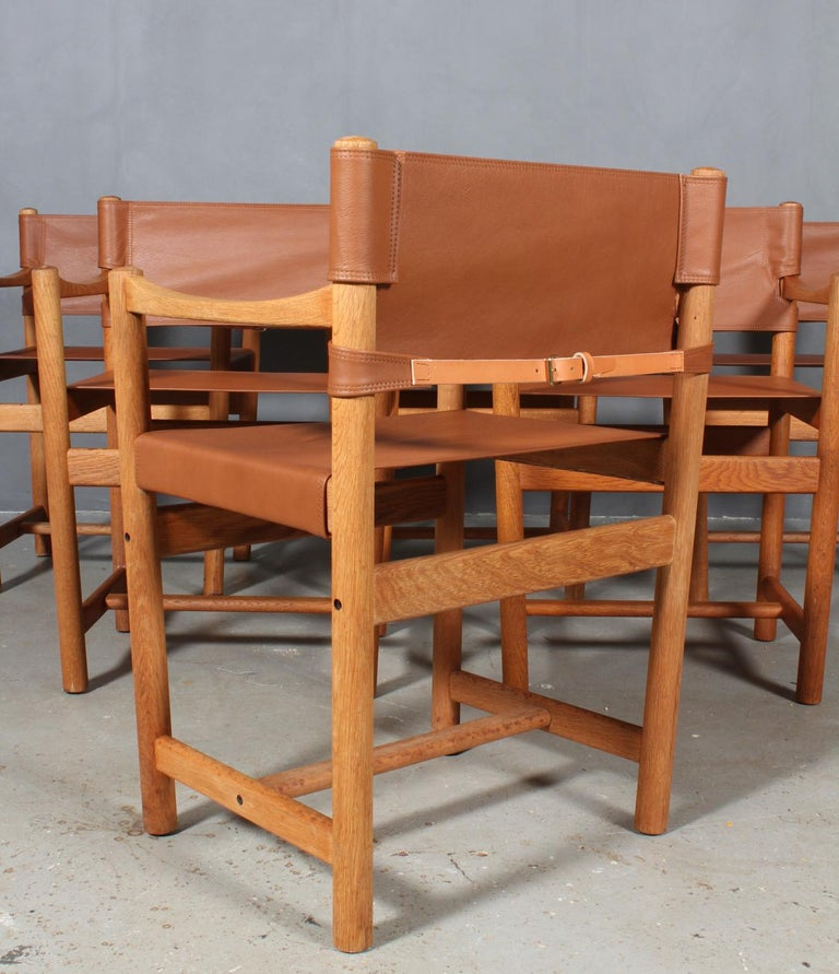 Leather Ditte Heath, Armchairs, FDB, 1970s For Sale