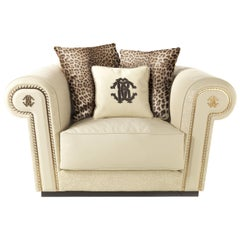 Diva Armchair in Leather by Roberto Cavalli
